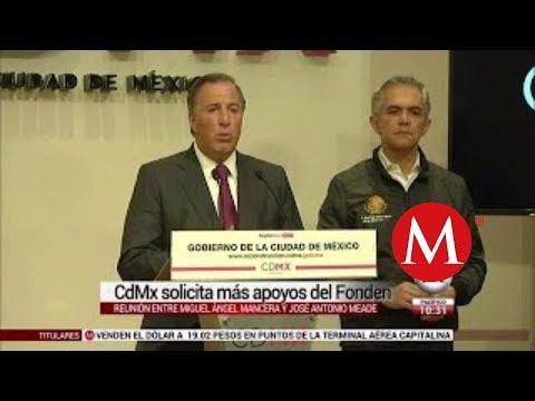 Conferencia de prensa: Mancera y Meade