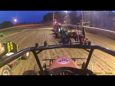 Deerfield Raceway Nathaniel '01' jr sprint 6 3 17 feature part 1