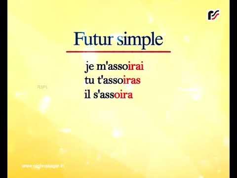 S Asseoir 1er Forme Indicatif Futur Simple Youtube