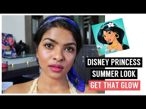 *Indian* Disney Princess Inspired Look | Glowing Skin + Soft Makeup & Easy Hairstyle