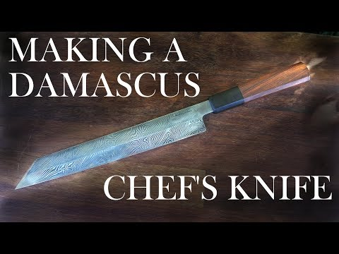 Making a Damascus Kiritsuke (Chef's Knife)
