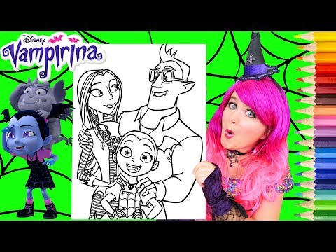 Coloring Vampirina & Her Family Coloring Page Prismacolor Pencils | KiMMi THE CLOWN