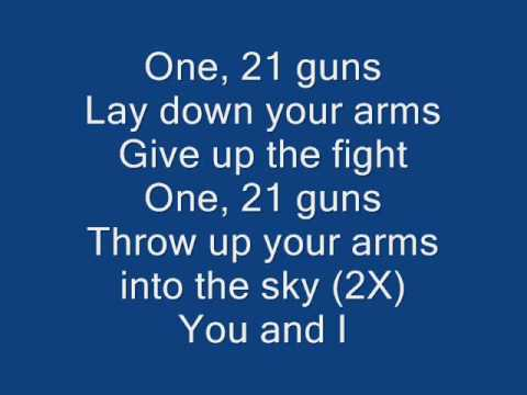 21 Guns Lyric And Chords Youtube