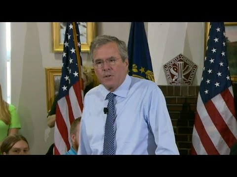 Jeb Bush takes aim at Donald Trump in New Hampshire