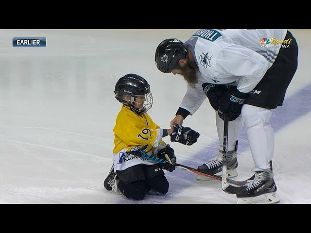Thornton takes the ice with his son