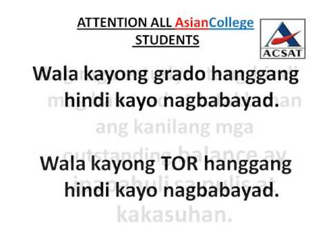 ATTENTION ALL AsianCollege STUDENTS