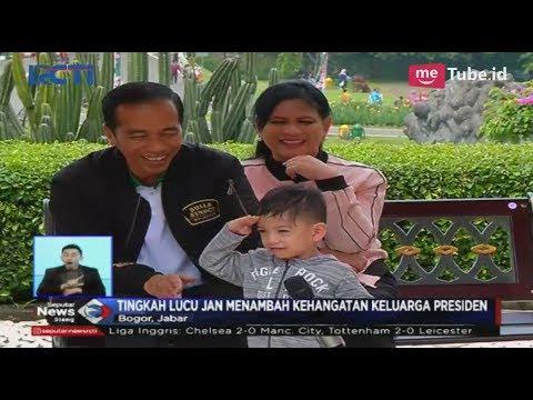 Lucu! Inilah Tingkah Jan Ethes Sang Cucu Presiden Jokowi Saat di Kebun Raya Bogor