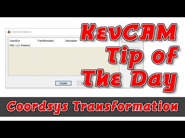 Tip of the Day - Coordsys Transformation