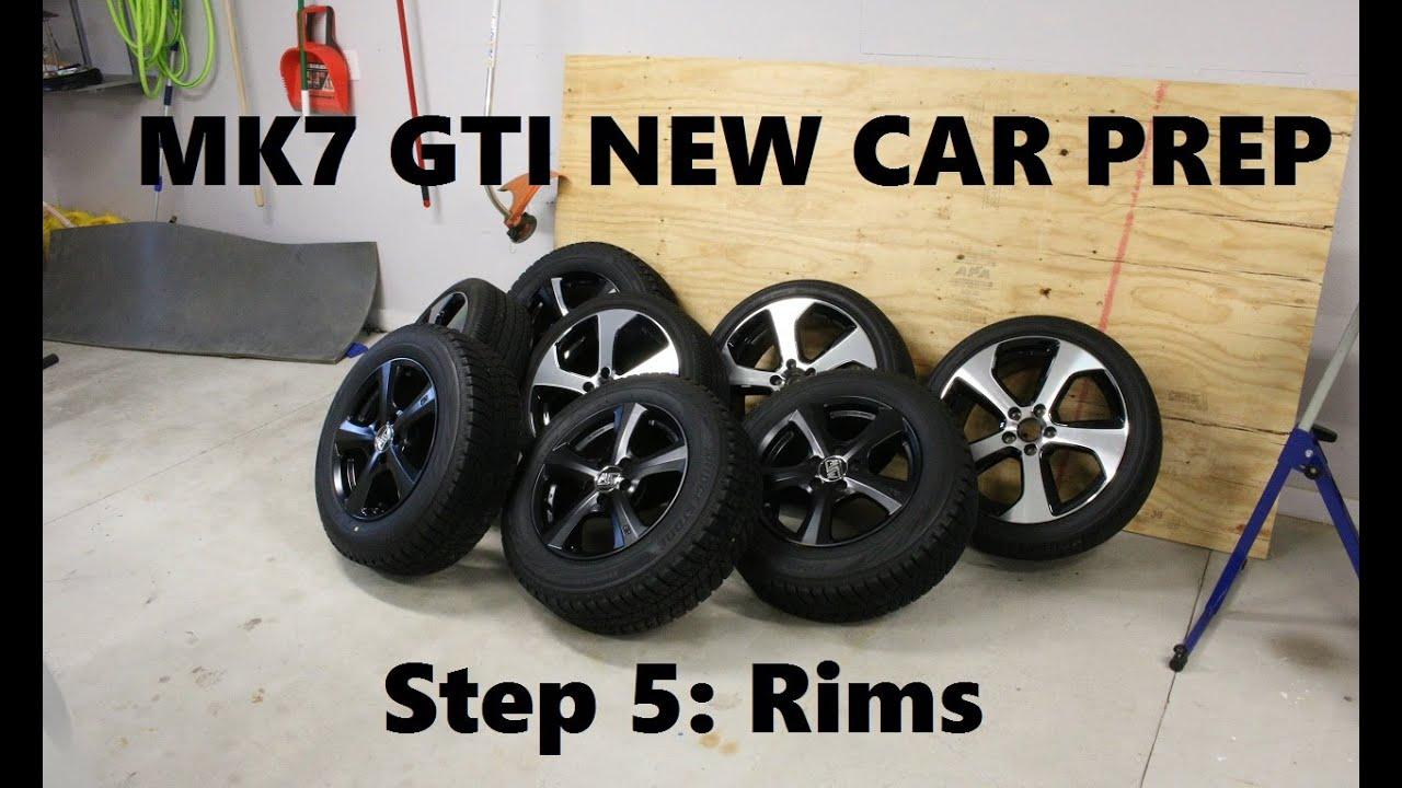 mk7 gti new car prep part 5 rims tires gyeon mohs q2. Black Bedroom Furniture Sets. Home Design Ideas