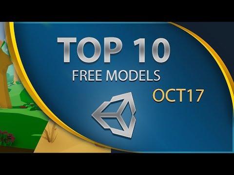 Top 10 Free Unity Assets - Models - October 2017