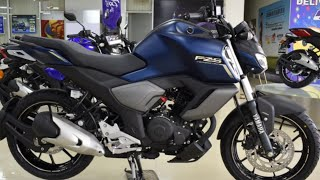 New BS6 Yamaha FZS FI V3 (Dark Matt Blue) Complete & Honest Review with on road price   2020 Update