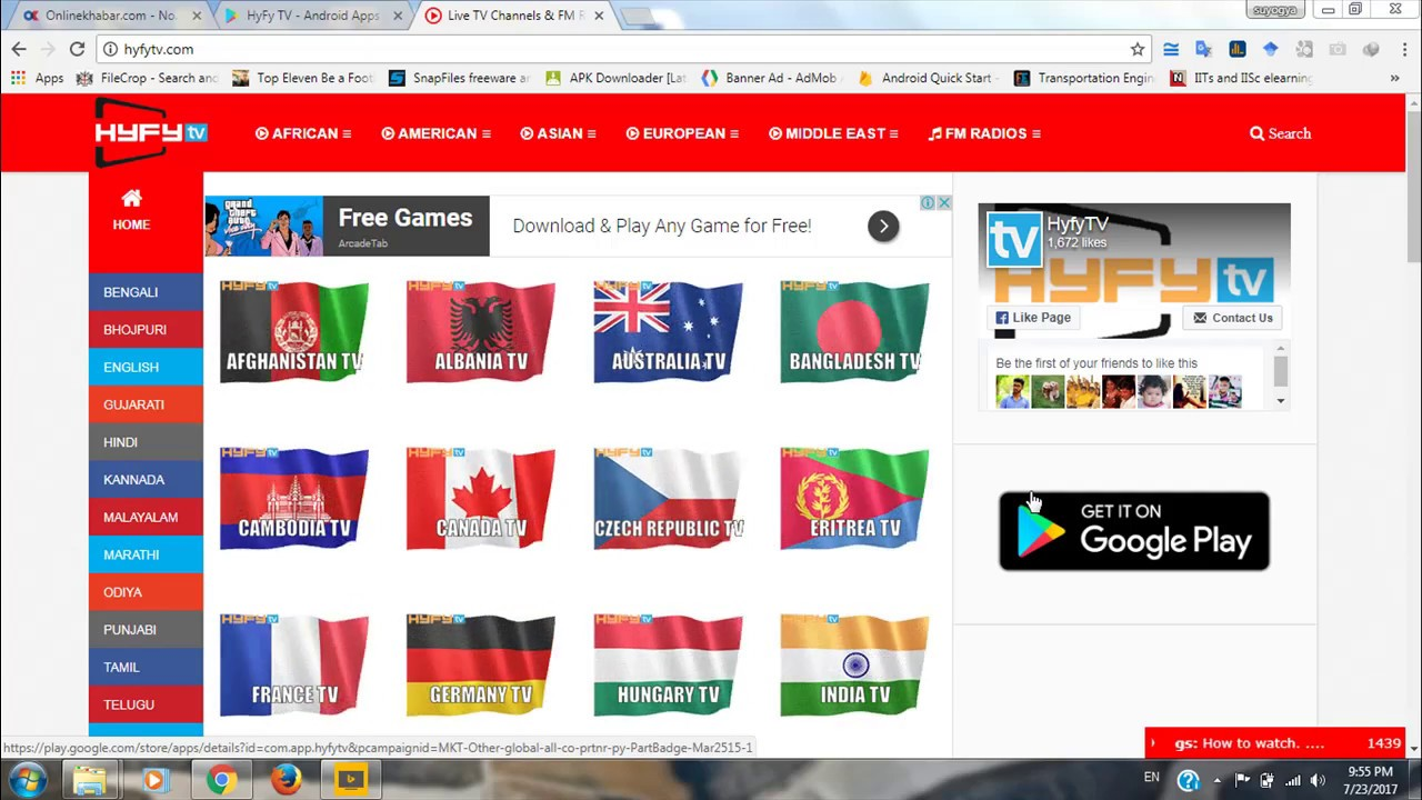 Watch(Stream) Live Tv Channels worldwide for free