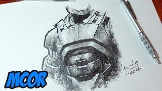 Como Renderizar/Dibujar Metal - Armadura Batman - Lapiz