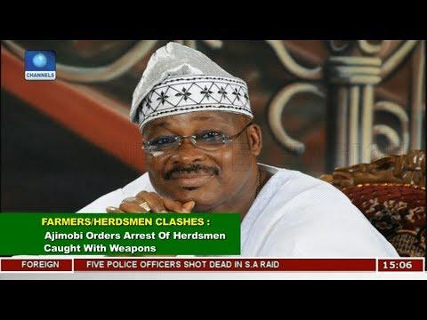 Ajimobi Orders Arrest Of Herdsmen Caught With Weapons | News Across Nigeria |