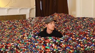 I Put 10 Million Legos in Friend s House