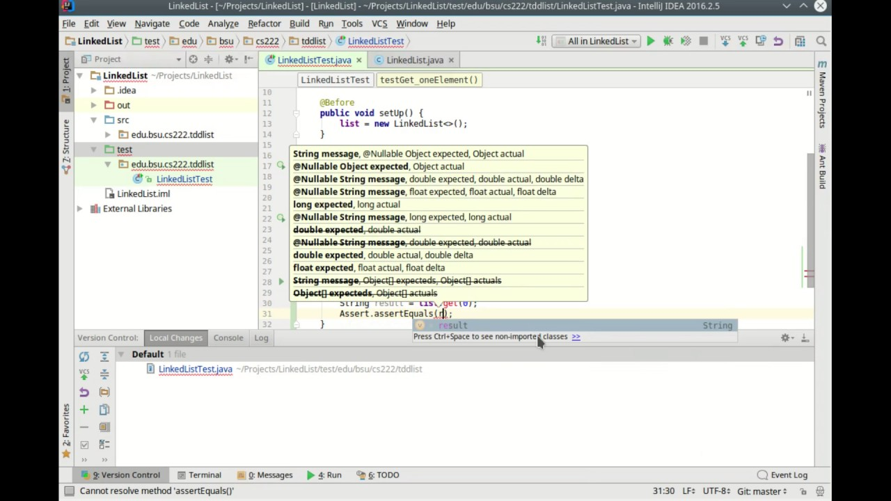 Linked list with test driven development youtube linked list with test driven development baditri Images