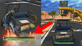 DRIFTING WITH THE GOLF CART! - FORTNITE SEASON 5 PARADISE PALMS CIRCUIT