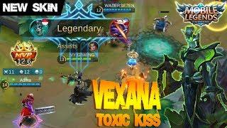 Mobile Legends - New Skin TOXIC KISS Vexana Gameplay [MVP] | New Meta Mage Hero