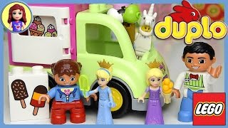 Lego Duplo Icecream Truck Van Set Build Review Play with Disney Princesses - Kids Toys