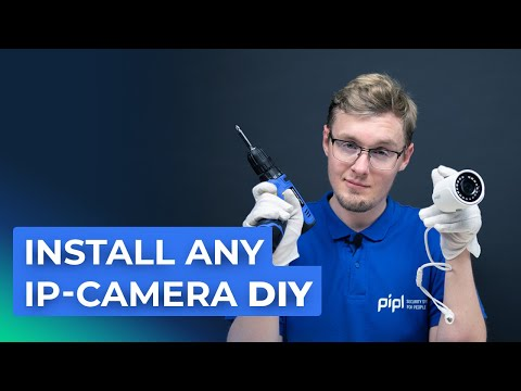 How To Install Security IP Camera CCTV With PoE DIY