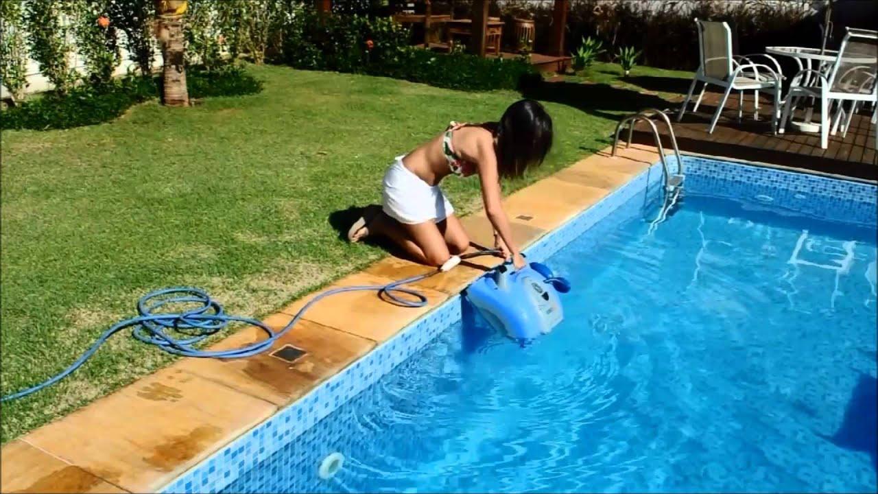O rob que limpa sua piscina sozinho robot xt5 sibrape pentair youtube - Robot para piscinas ...