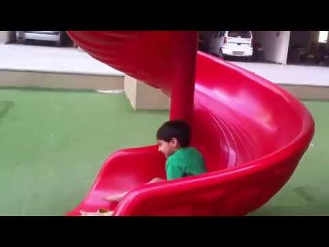 Children Playing In The Park With Bicycle Roundabouts Slide SeeSaw 2 by JeannetChannel