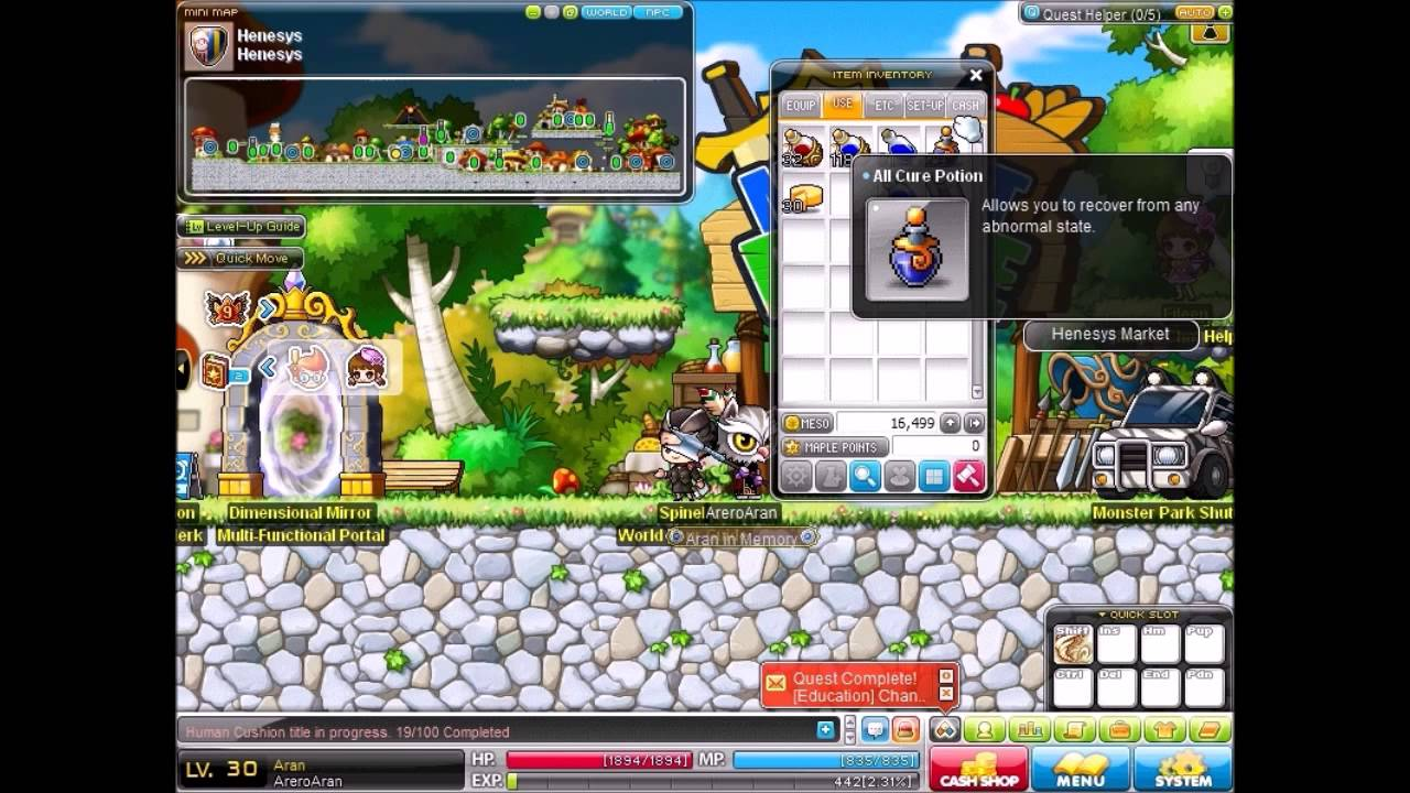 maplestory-how to get free vip hair style coupon to change hair