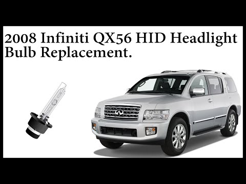 How to replace HID Xenon Headlight Bulb on a 2008 Infiniti QX56.