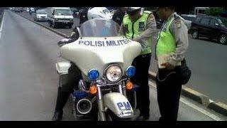 video lucu  polisi tilang polisi militer