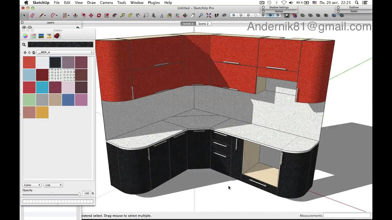 Sketchup DC Furniture YouTube