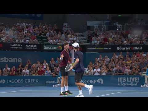 Denis Istomin v Bernard Tomic Highlights Men's Singles Quarter Final: Brisbane International 2012 from YouTube · Duration:  2 minutes 51 seconds