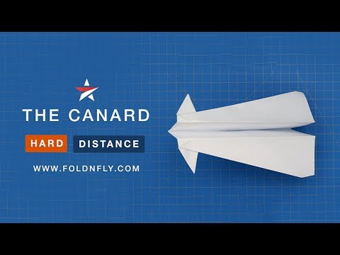 ✈ Paper Airplane Designed to Fly for a Long Time - The Canard - Fold 'N Fly