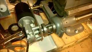South Bend lathe variable speed power feed conversion home made