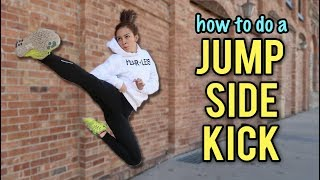 HOW TO DO A JUMP SIDE KICK | Samery Moras Taekwondo