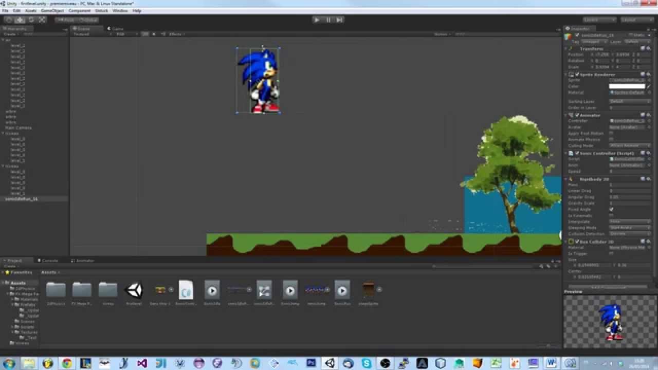 Unity2d cr ez votre jeu vid o 2d faire sauter notre for Jeux de cuisine unity 3d