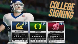 Picking Where To Go To College! NCAA 14 Road To Glory #3