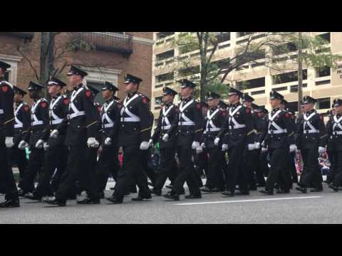 Marion Military Institute marching in 2016 Birmingham Veterans Day Parade