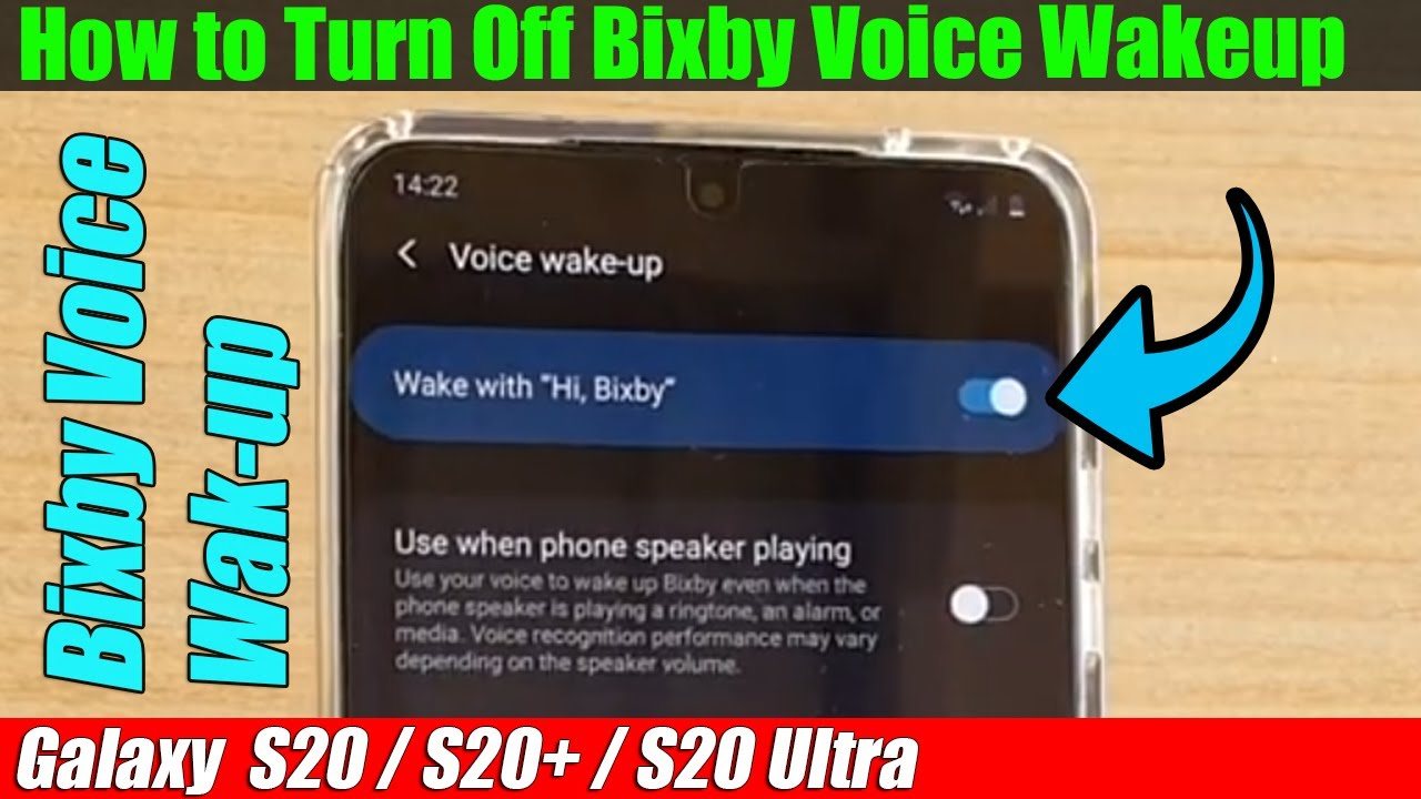 Galaxy S20/S20+: How to Turn Off Bixby Voice Wake-up - YouTube