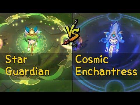 Cosmic Enchantress Lulu vs Star Guardian Lulu Skins Comparison (League of Legends)