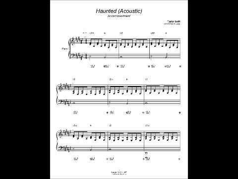 Piano cover Haunted Taylor Swift Acoustic