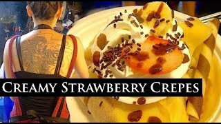 Japanese Street Food - Creamy Strawberry Crepes | World Best Things