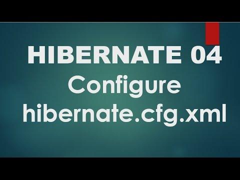 Hibernate - 04 - Configure hibernate.cfg.xml file