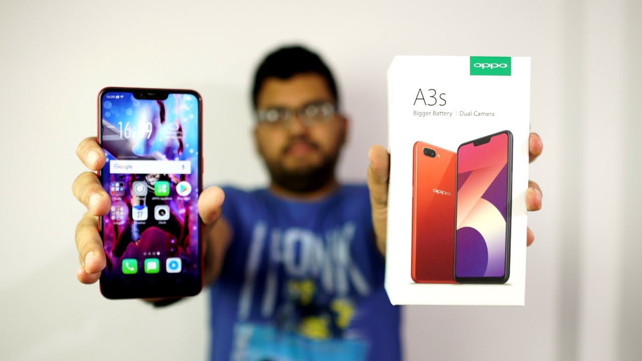 Oppo A3s Unboxing, Initial Impressions, Camera App, Face Unlock Antutu and  Geekbench Scores