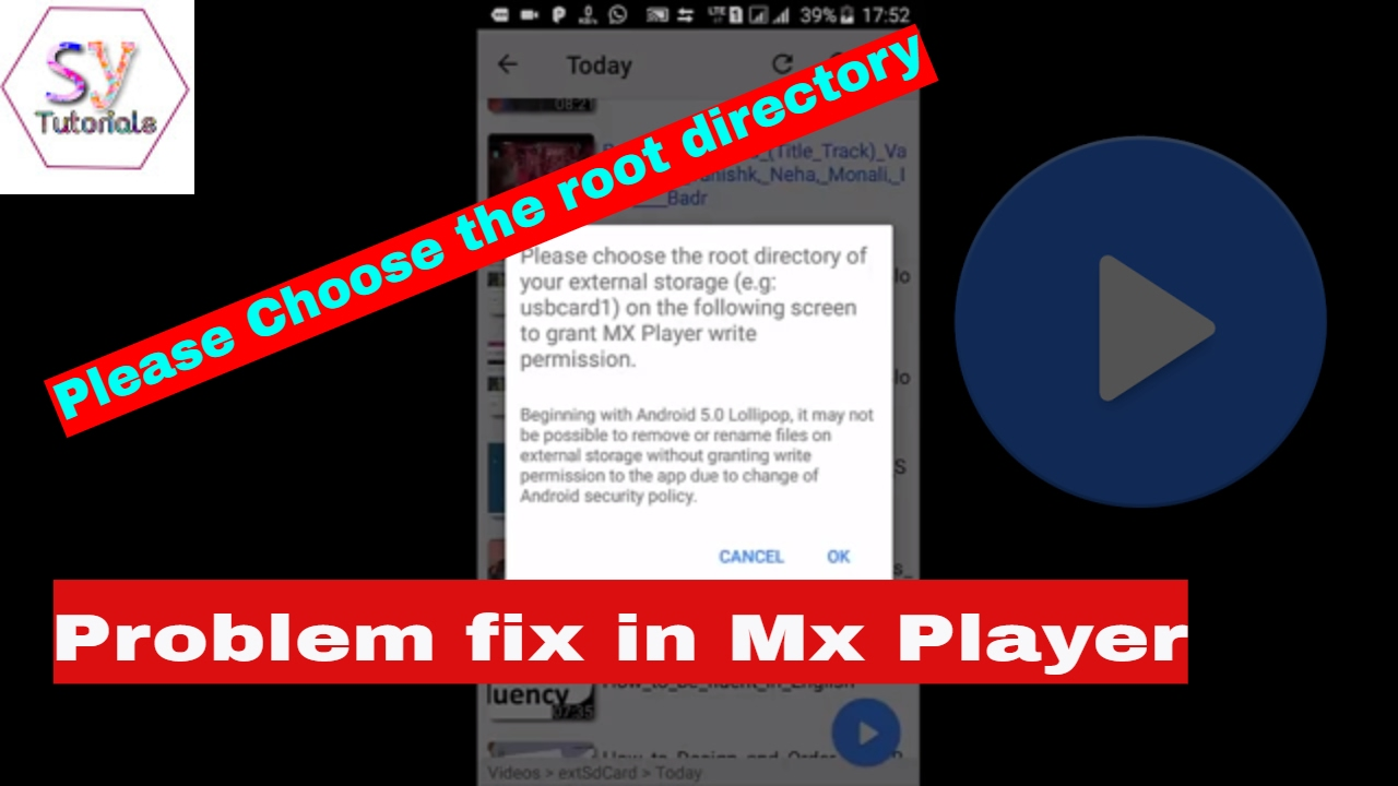 how to delete sd card video in mx player