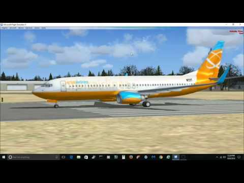 Flint to Chicago O'hare ILS flight Microsoft Flight Simulator X