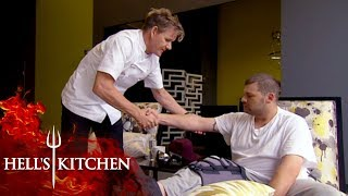 Steve Is Forced To Leave Hell's Kitchen Due To An Injury | Hell's Kitchen