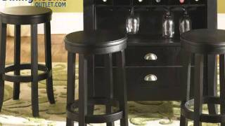 Liberty Furniture 47 Pub 5pc Casual Dining Room In Rubbed Black & Cherry Finish