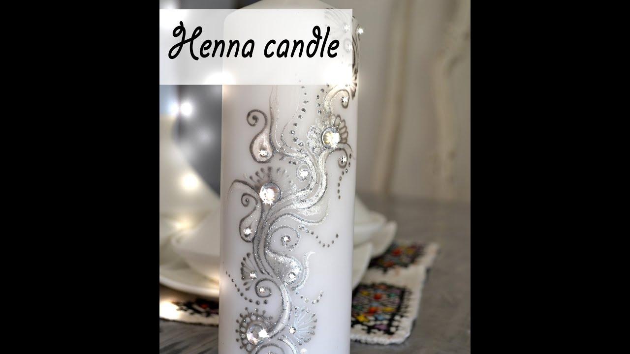 Très henna candle..bougie décorée - YouTube UM66