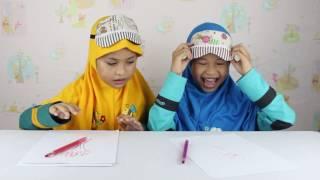 Blindfolded Drawing Challenge ft Aisyah Hanifah ❤ Menggambar Sambil Tutup Mata