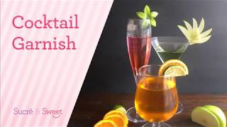 How to make siṁple cocktails garnishes